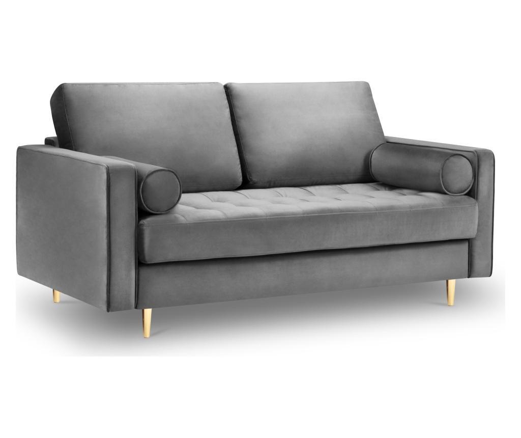 Canapea 2 locuri Santo Light Grey