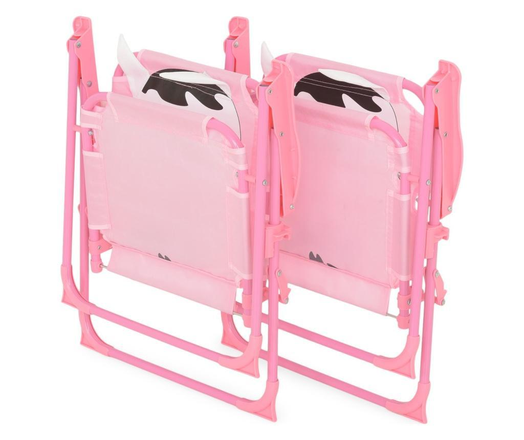 Zestaw stół ogrodowy z 2 krzesłami dla dzieci Cow