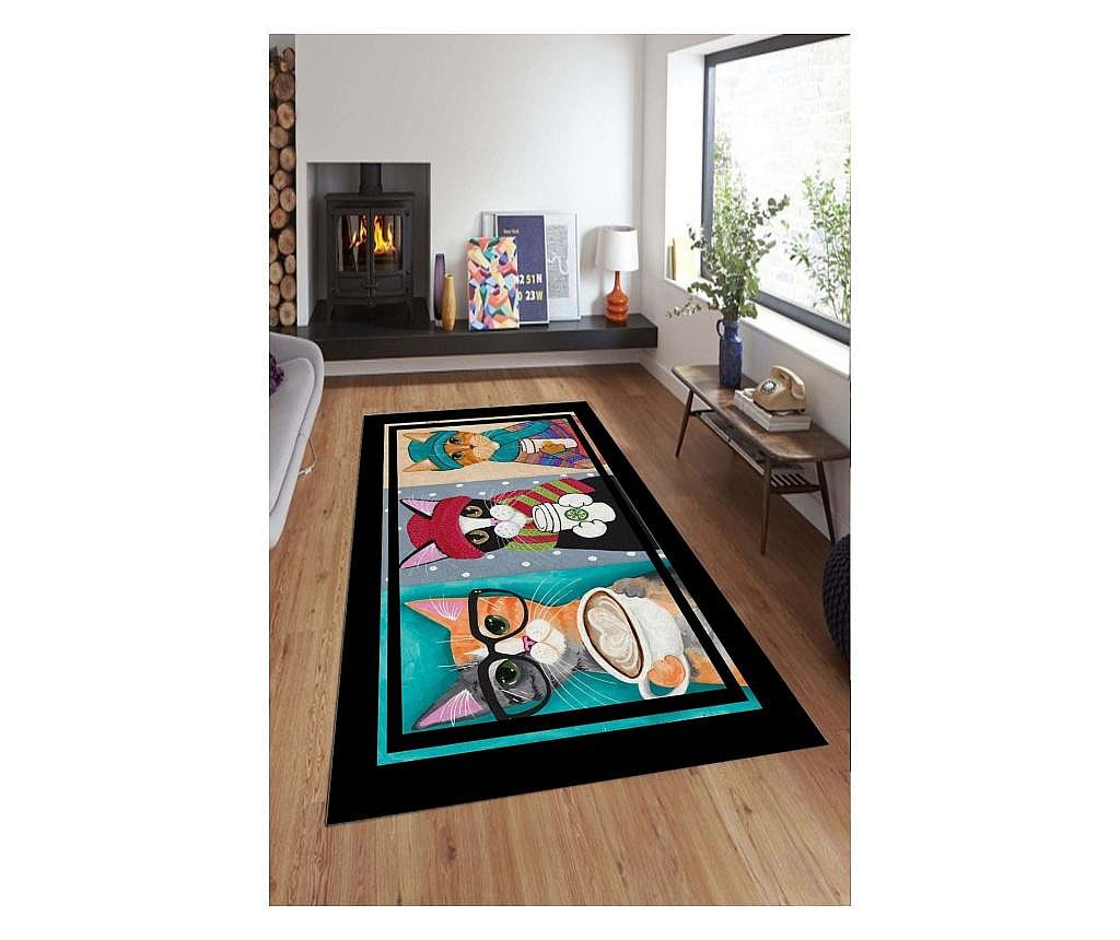 Tepih Colorful Cats 100x200 cm