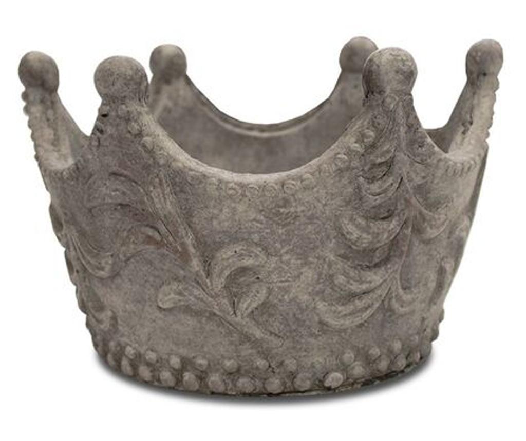 Ghiveci piatra, gri, forma coroana, 16x24 cm