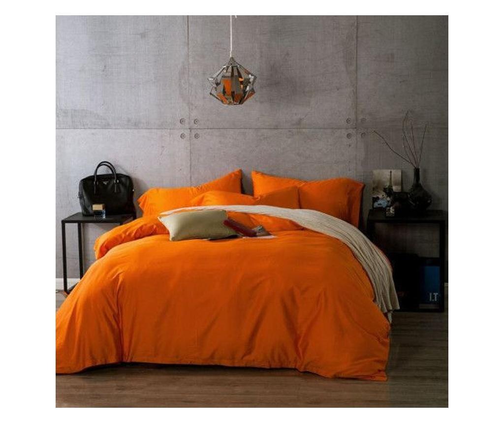 Lenjerie de pat Double Ranforce Orange Rectangular
