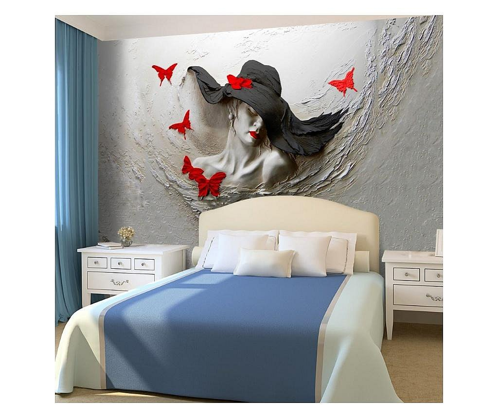 Set 3 bucati de tapet Woman With Embossed Hat 3D Colorful 91x260 cm
