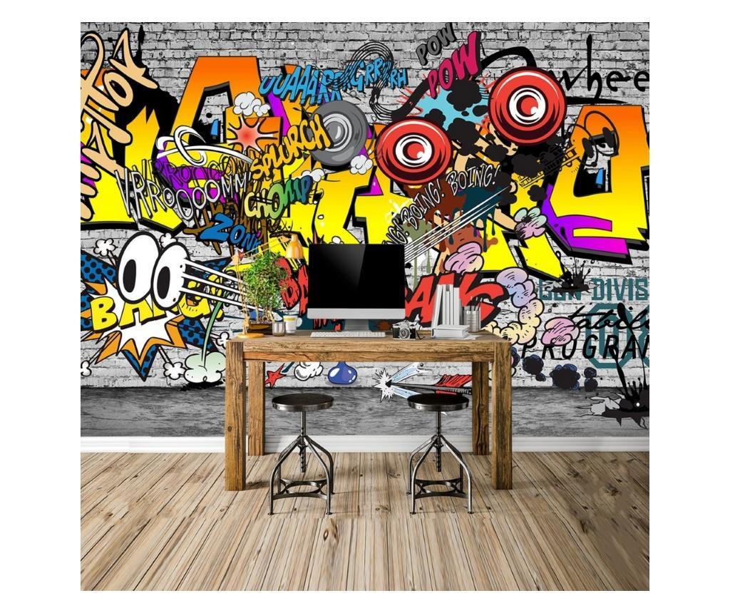 Set 4 bucati de tapet Graffiti 91x260 cm