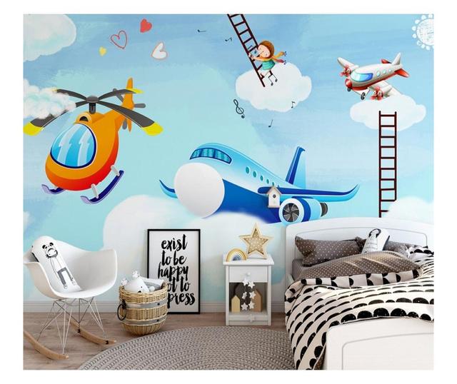 Set 3 bucati de tapet Children's Room Above The Clouds 91x180 cm
