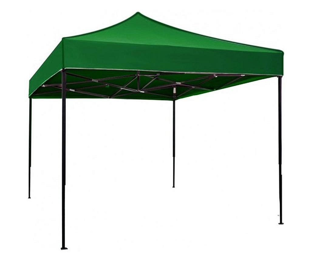 RAKI Pavilion, cort gradina pliabil 3x3m cadru metalic si copertina verde