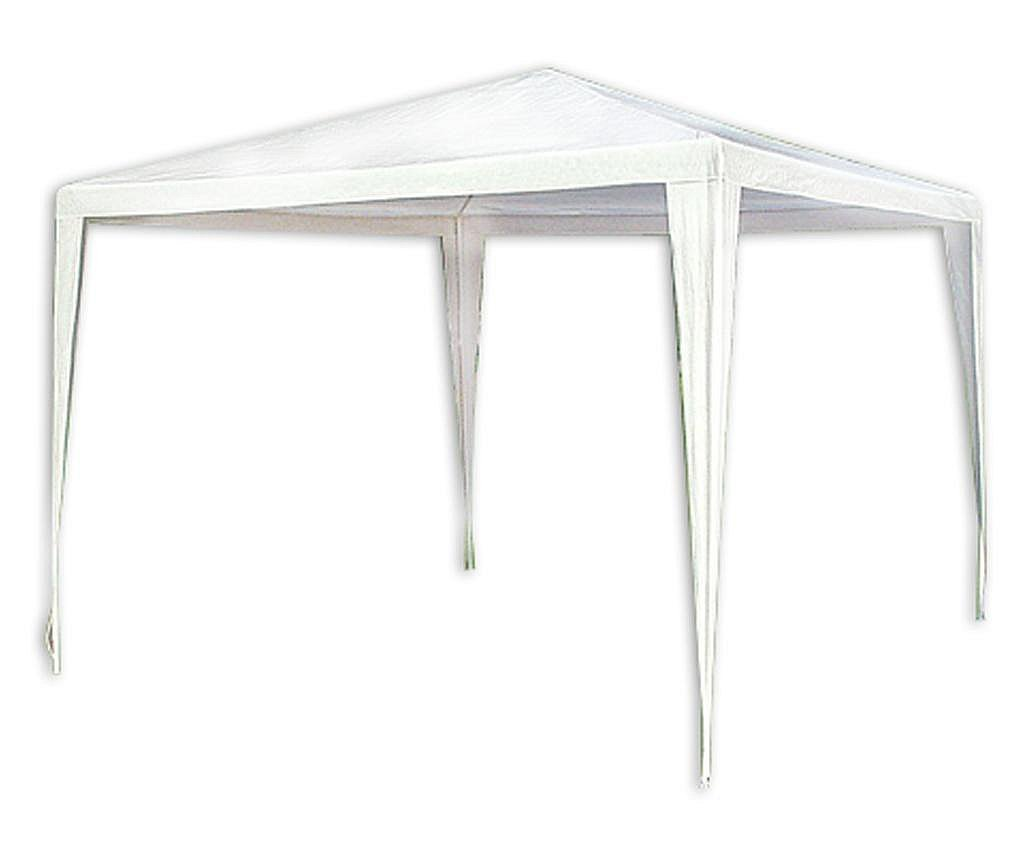 RAKI Pavilion patrat 3x3m nailon alb