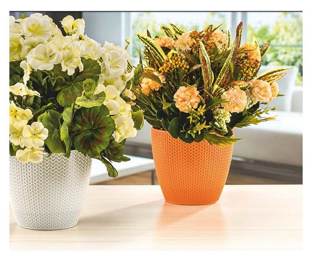 SERINOVA SUMELA Ghiveci flori 14xh12cm 1,4l bej