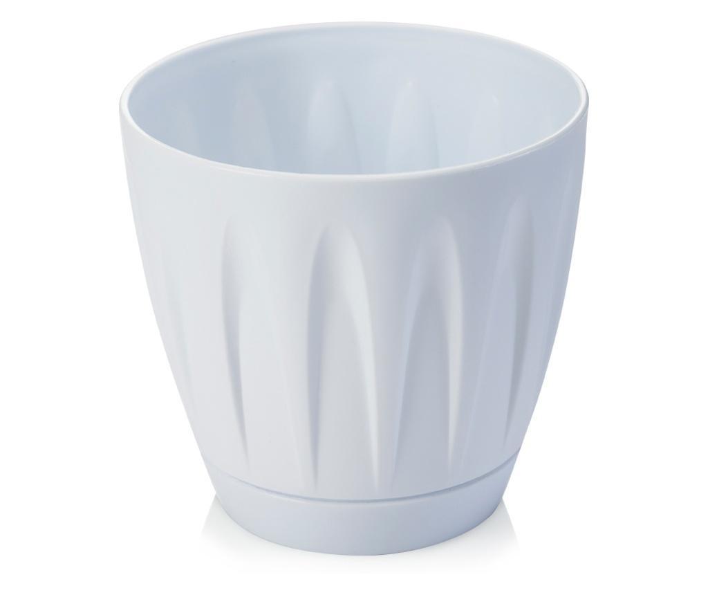 SERINOVA DAISY Ghiveci pentru flori 18xh16,5cm 3l alb
