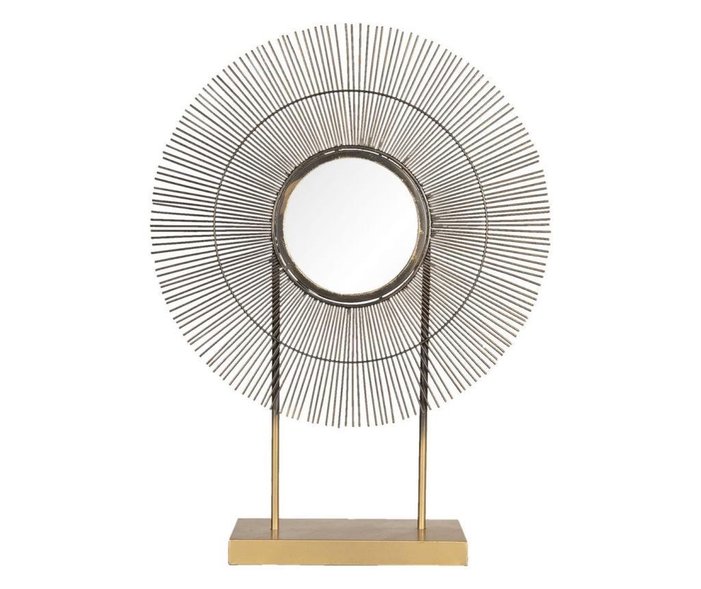 Oglinda de masa metal auriu aramiu 48x12x64 cm