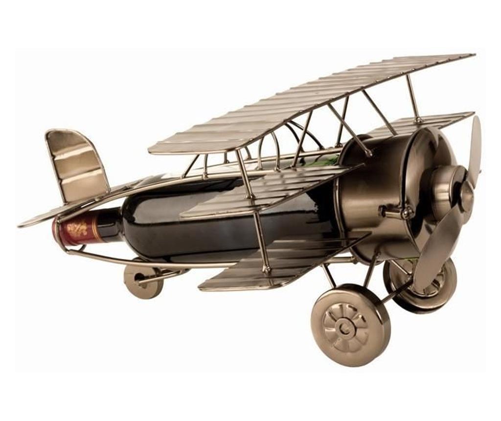 Suport sticla vin avion h20xlatime 38cm