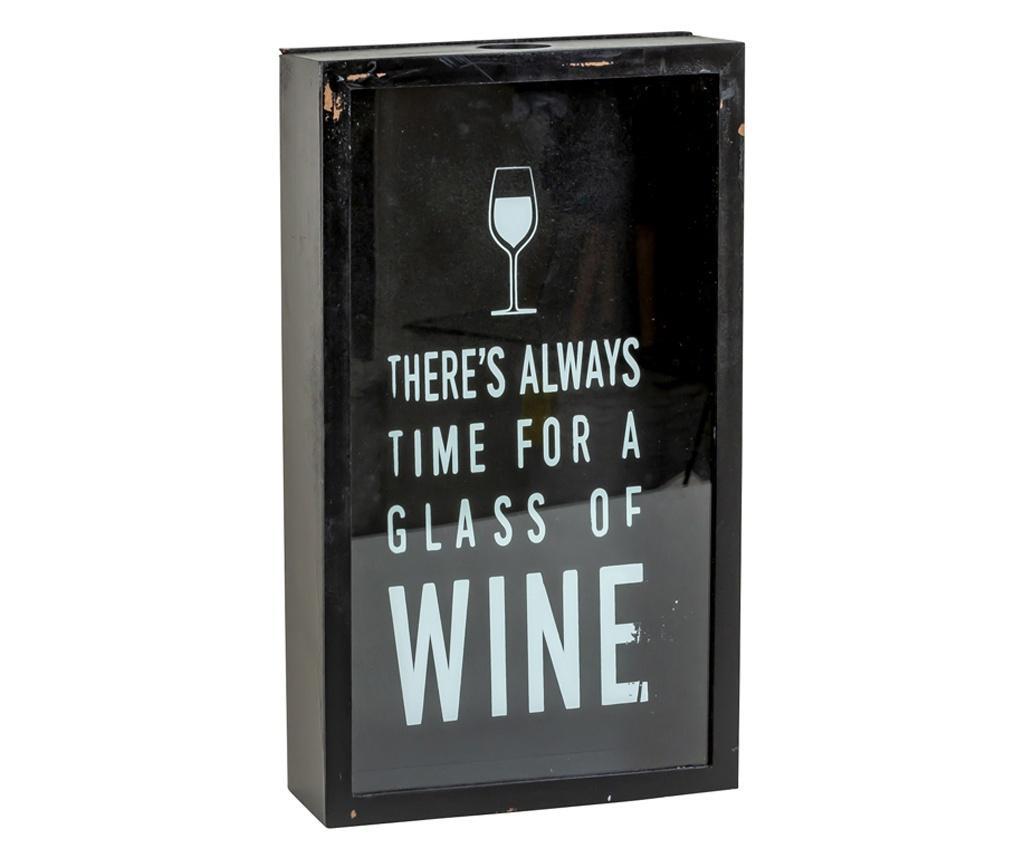 Cutie decor, pentru dopuri de Sticla Vin, 45x21 cm