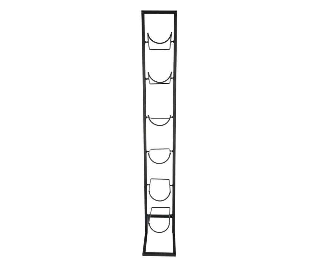 Suport metal pentru 6 sticle vin 84X22X27cm