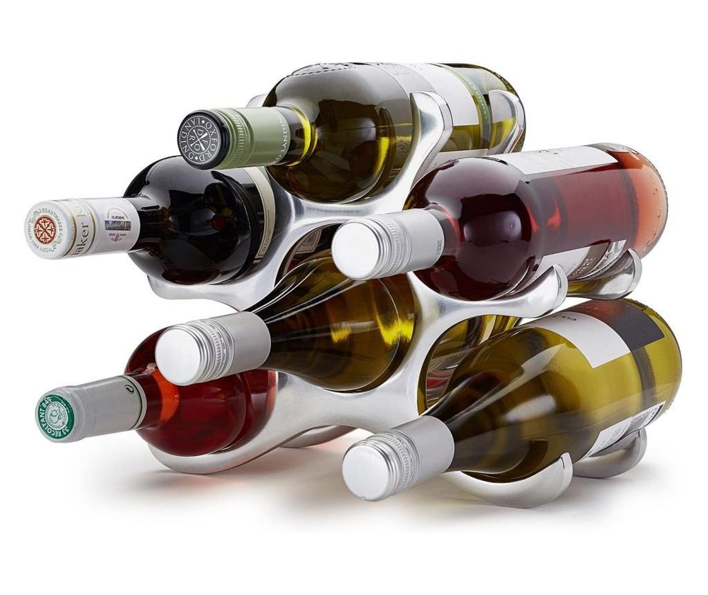 Suport modern de sticle vin capacitate 6 sticle H22cm l 28cm, G 0.88kg