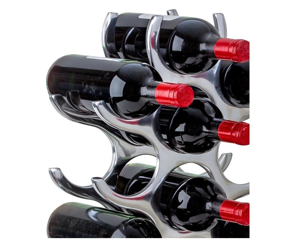Suport modern de sticle vin capacitate 15 sticle H57.5cm, G 2.58 kg