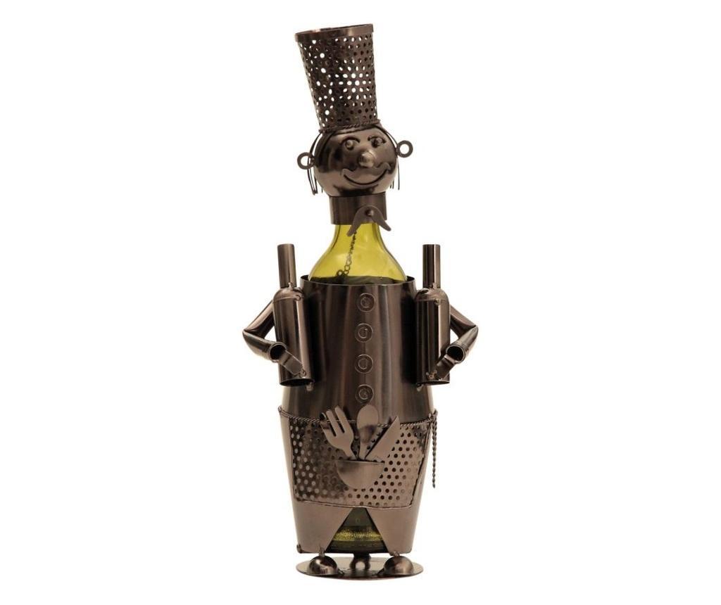 Suport pentru sticla vin din metal barman h38cm