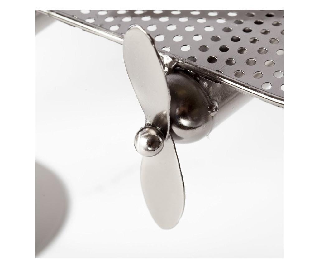 Suport pentru sticla vin din metal avion h29.5cm l 49cm 2 pasageri
