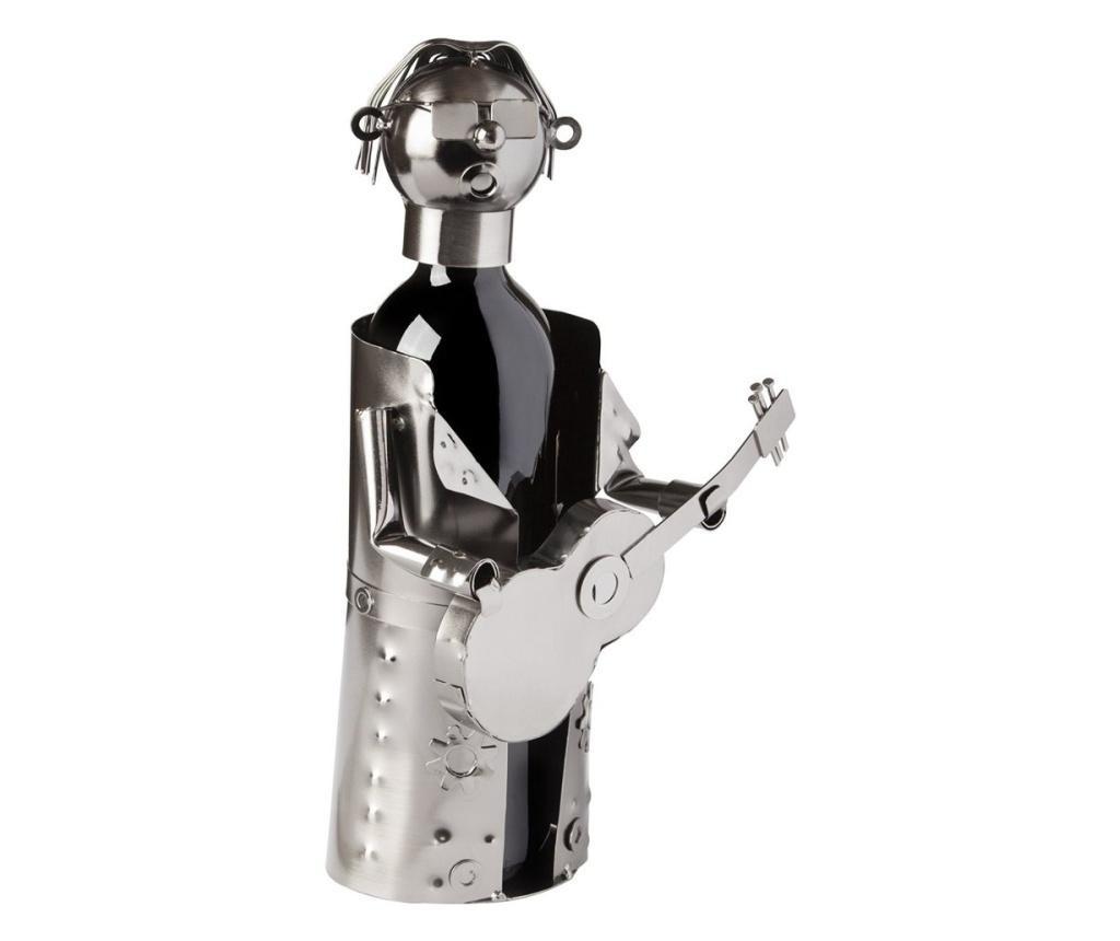 Suport pentru sticla vin din metal chitarist H31.5cm
