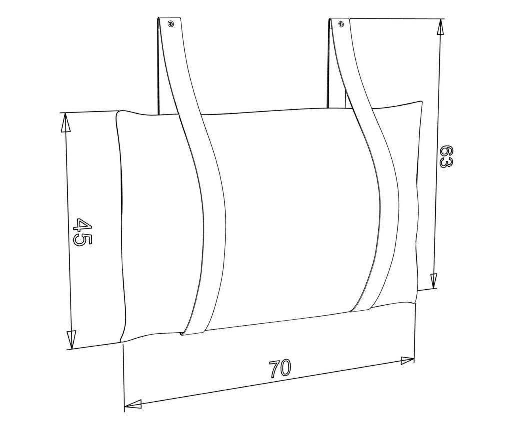 Κεφαλάρι κρεβατιού  63x70 cm