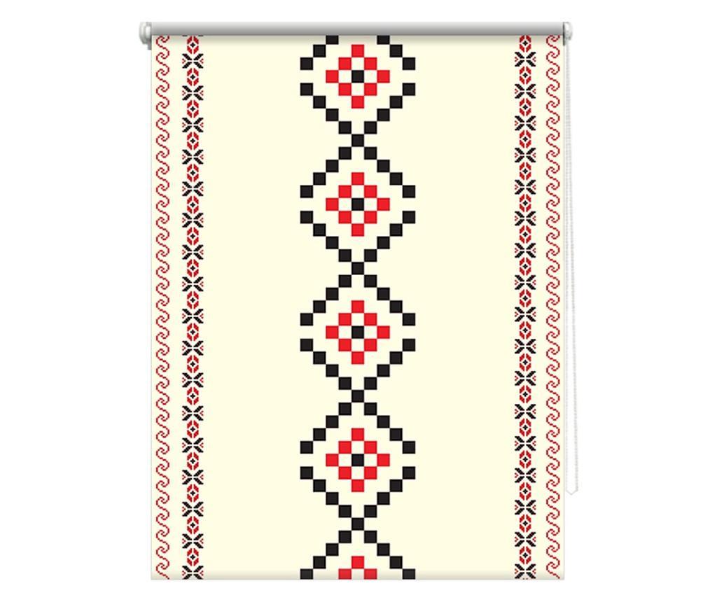 Rulou textil printat, model traditional 1, material translucid  62x185 cm