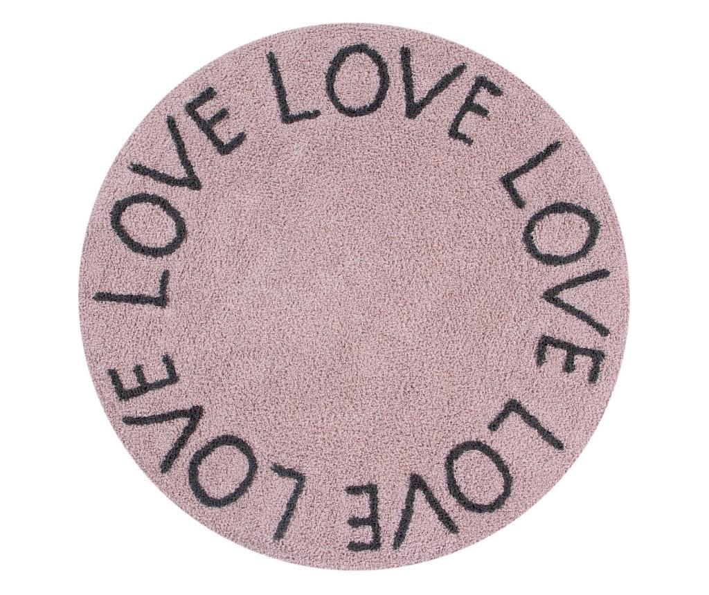 Tepih Love Rose & Dark Grey 100 cm