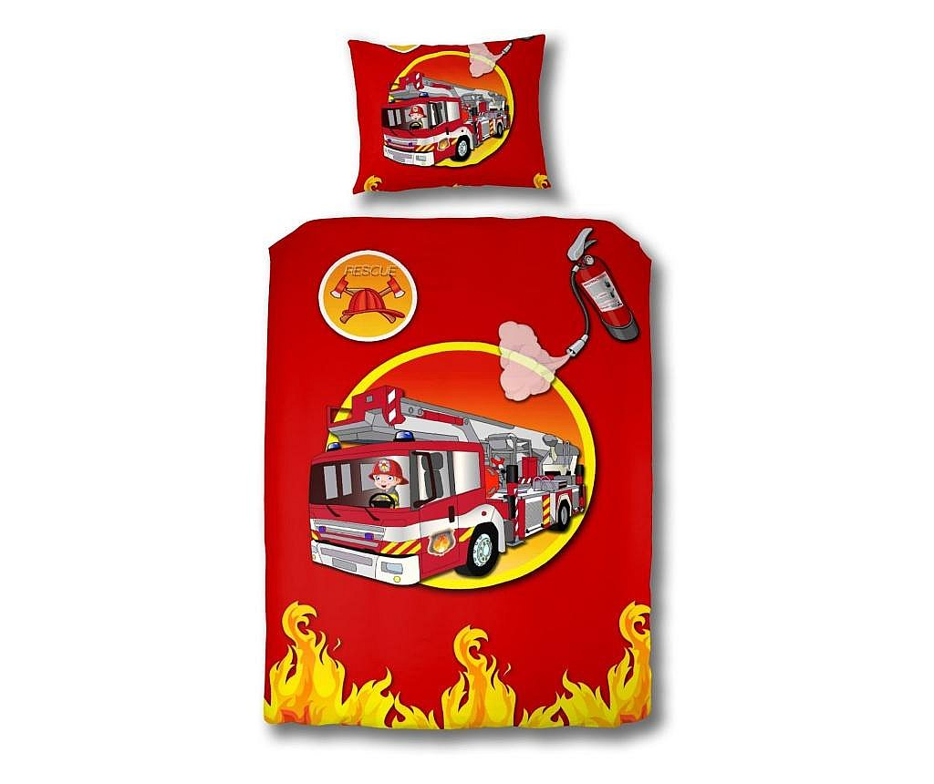 Set dječja posteljina Single Ranforce Fire Truck