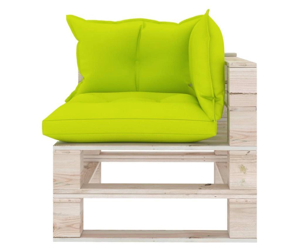 Canapea de gradina din paleti, 4 locuri, cu perne, lemn de pin