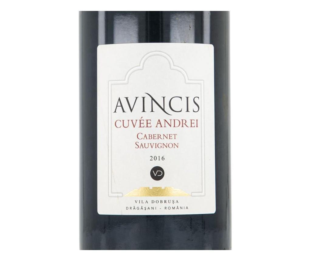 Vin rosu avincis cuvee andrei 2016, sec, 750 ml  10x10x44