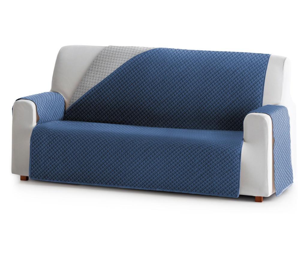 Dvostrana navlaka za kauč Practical Blue&Grey 190x80x220 cm