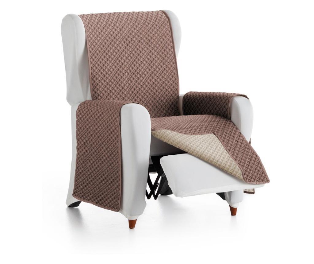 Dvostrana navlaka za fotelju Practical Brown&Mink 55x80x220 cm