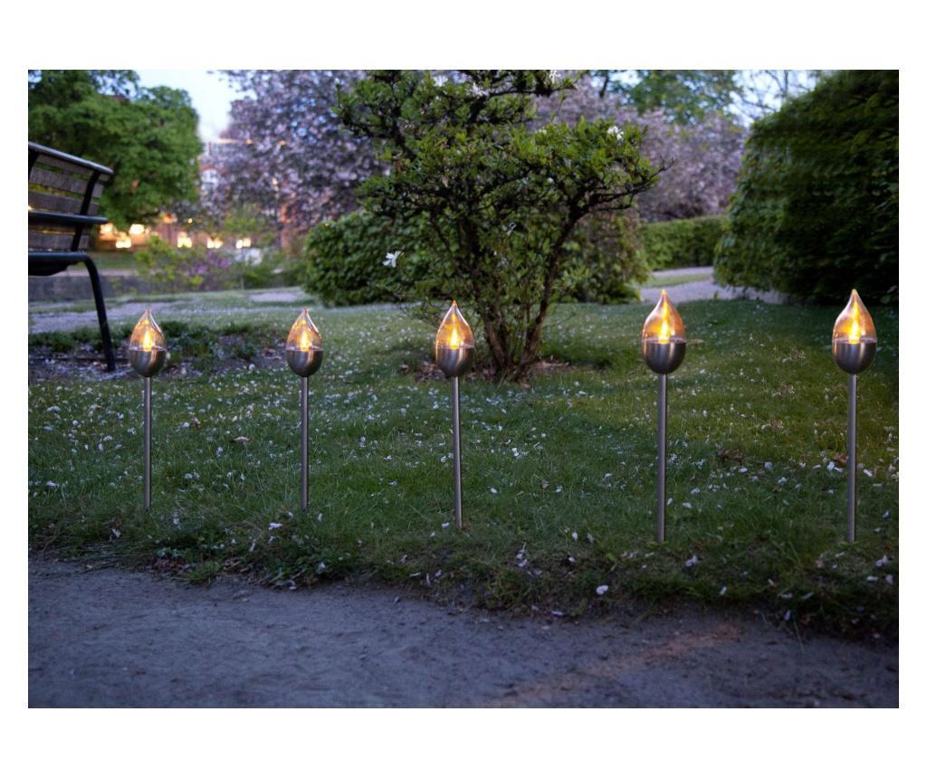 Set 3 lampi solare cu LED Olympus