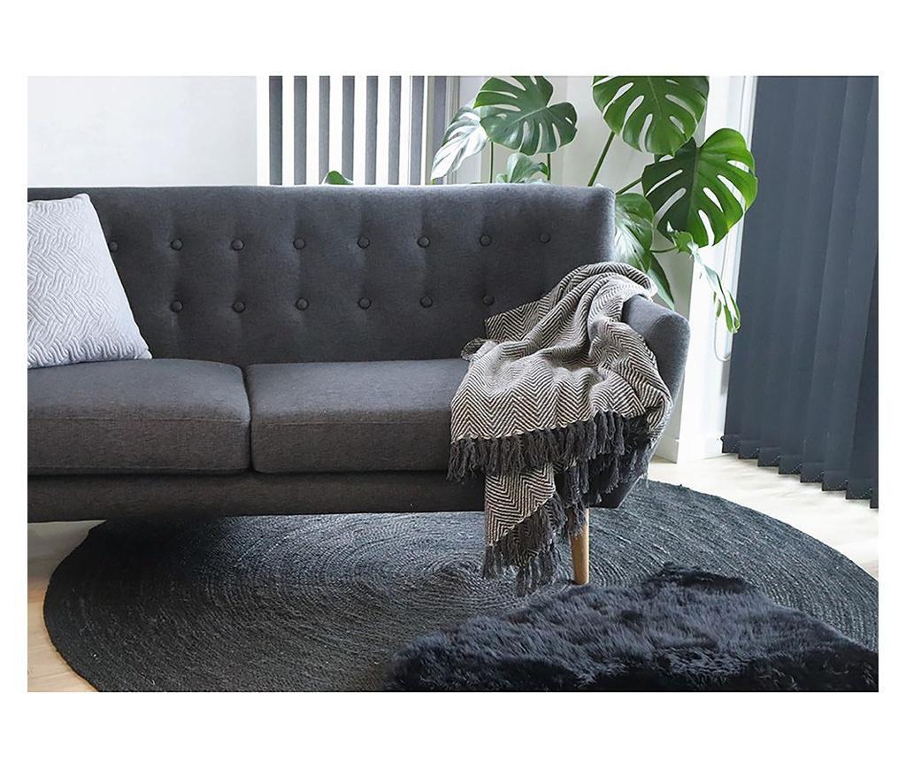 Dywan Lamb Black 50x85 cm