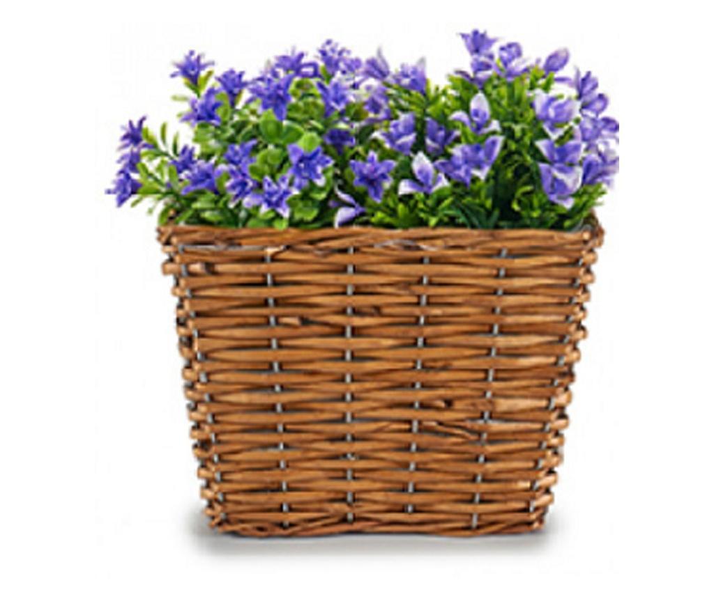 Ghiveci din rachita pentru flori, 13 x 12 x 19 cm, rectangular, Ibergarden