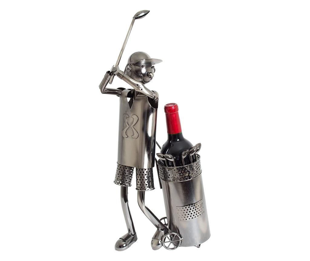 Suport metal pentru Sticla Vin, model Jucator Golf, H 53 cm