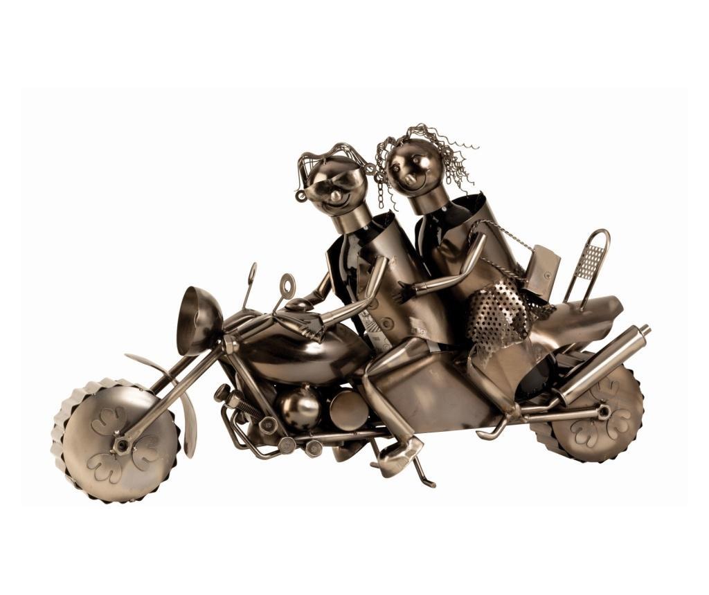 Suport metal pentru sticla vin , cuplu pe motor 38x63 cm