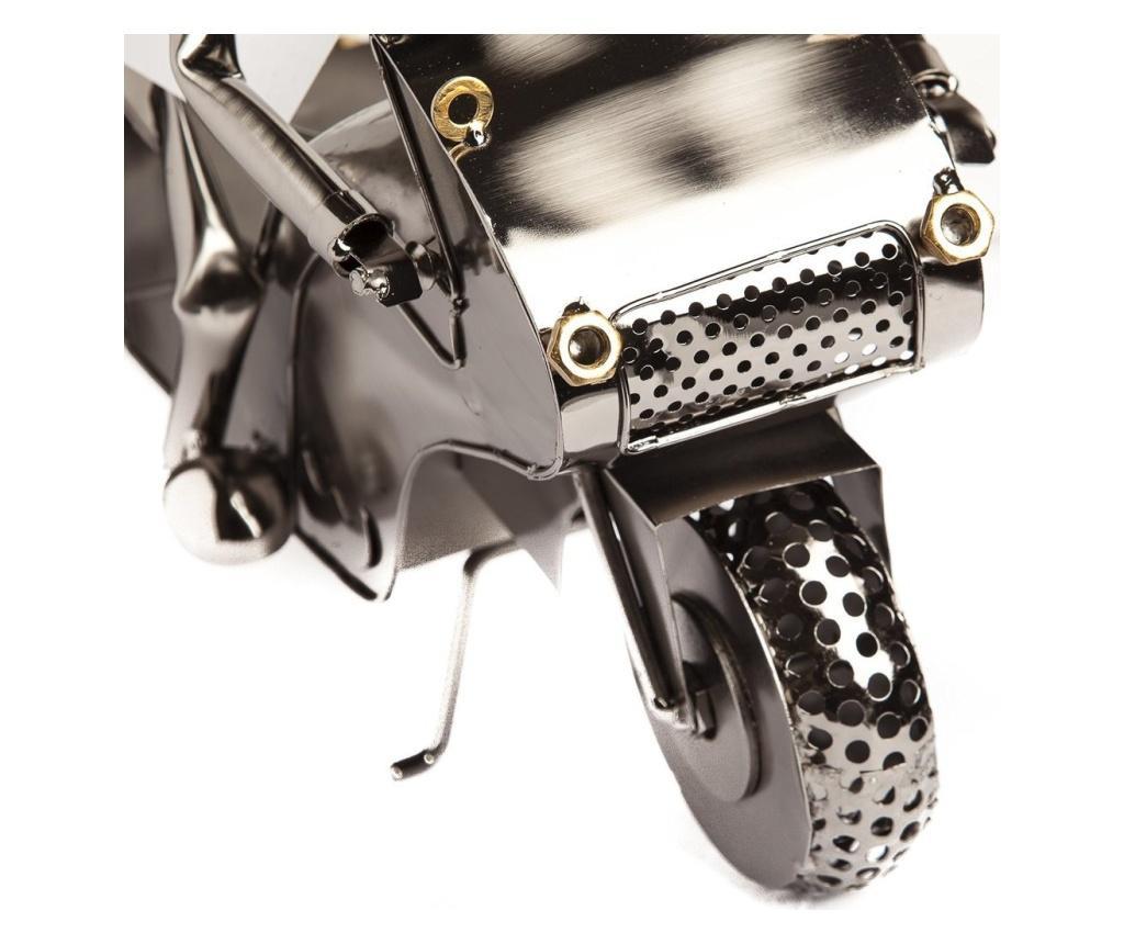 Suport metal pentru Sticla Vin, Motociclist, H 35 cm