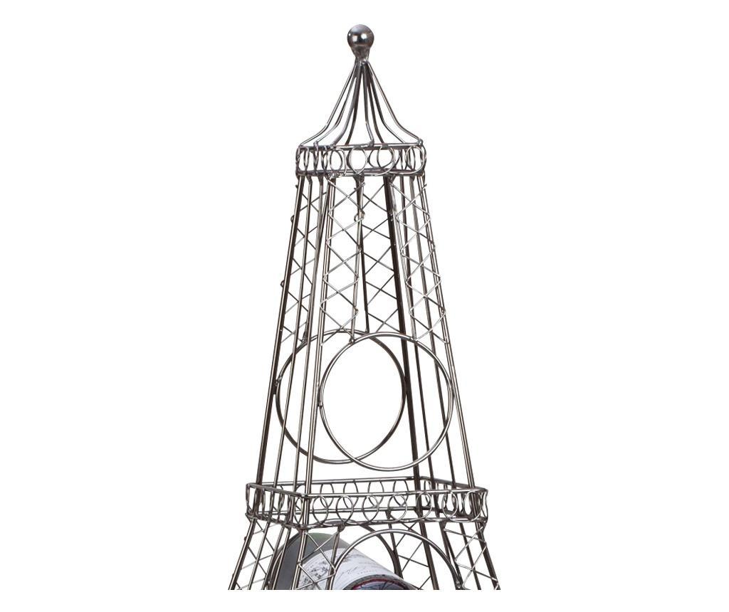 Suport metal pentru 6 sticle vin, model turnul Eiffel, 72,5 cm, 1,62 kg
