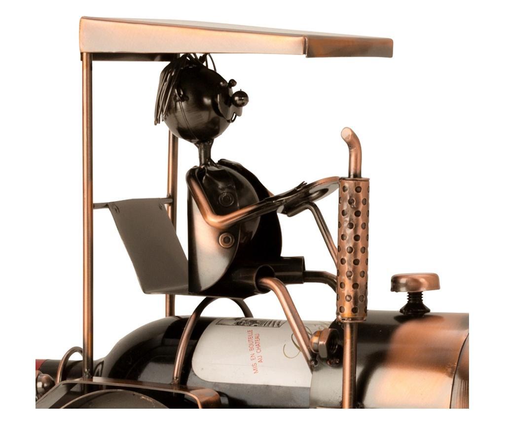 Suport metal pentru Sticla Vin, model Tractor, H 27 cm