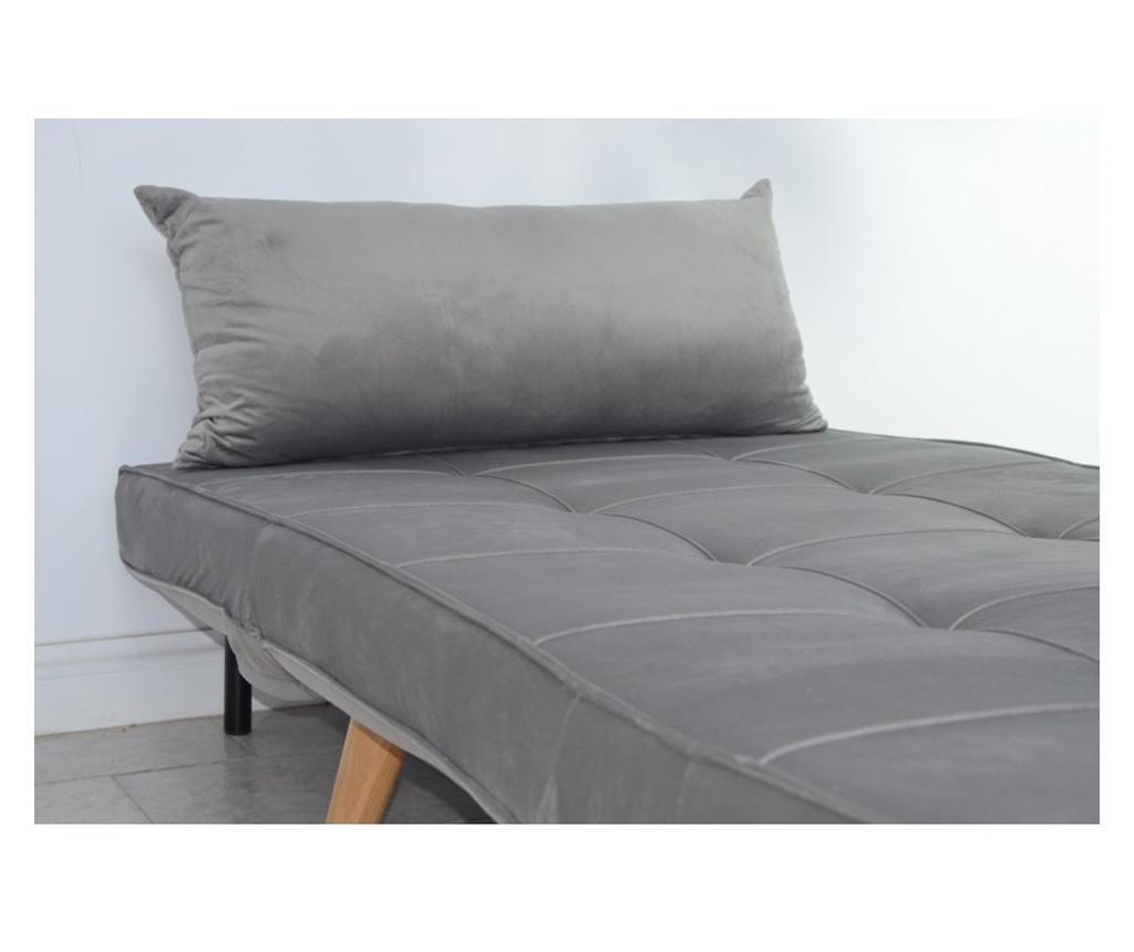 Fotoliu extensibil Catifea Light Grey Lounge Premium