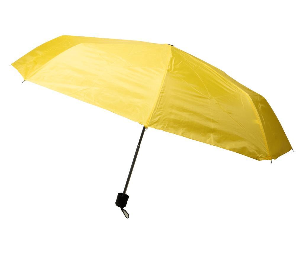 Umbrela manuala pliabila cu husa asortata, inchidere cu arici, ⌀88 cm, Galben