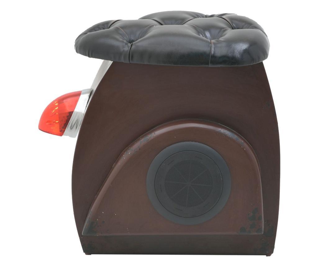 Taburet Otoman cu lumini si difuzoare Bluetooth Brown