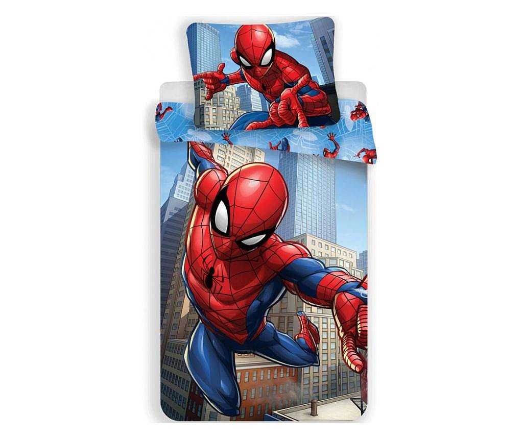 Lenjerie de pat pentru copii Spiderman 140×200 cm, 70×90 cm 100% polieszter