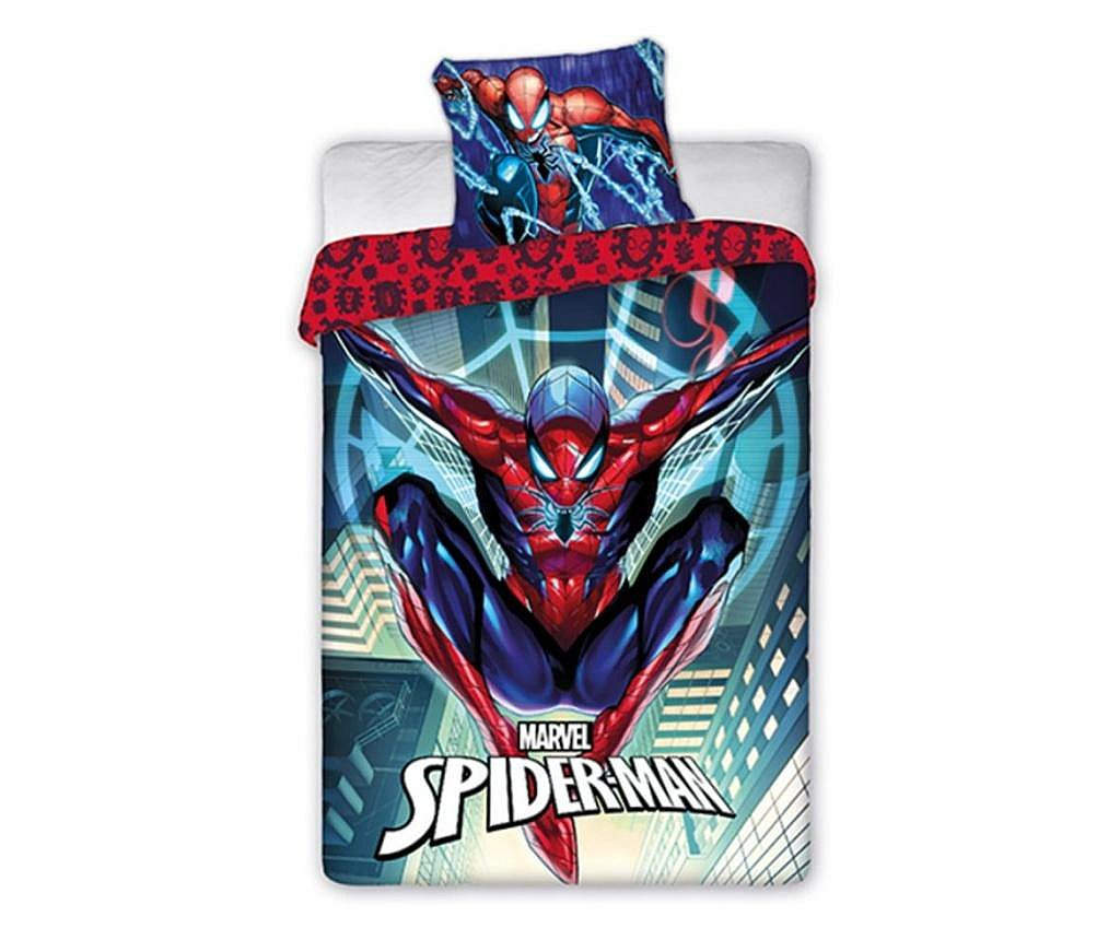Lenjerie de pat pentru copii Spiderman 140×200 cm, 70×90 cm