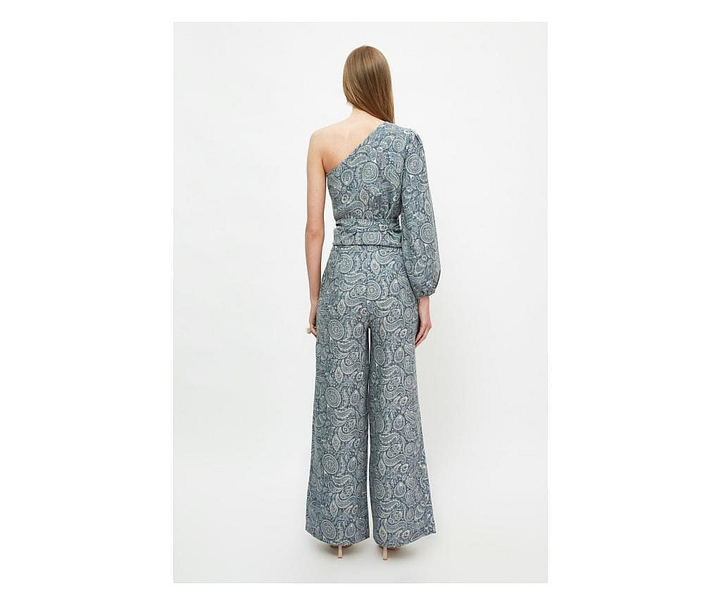 Pantaloni dama Moana S, Trendyol, albastru