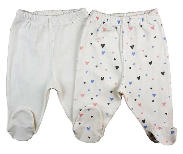 Set 2 perechi de pantaloni lungi Luggi Baby nou nascut