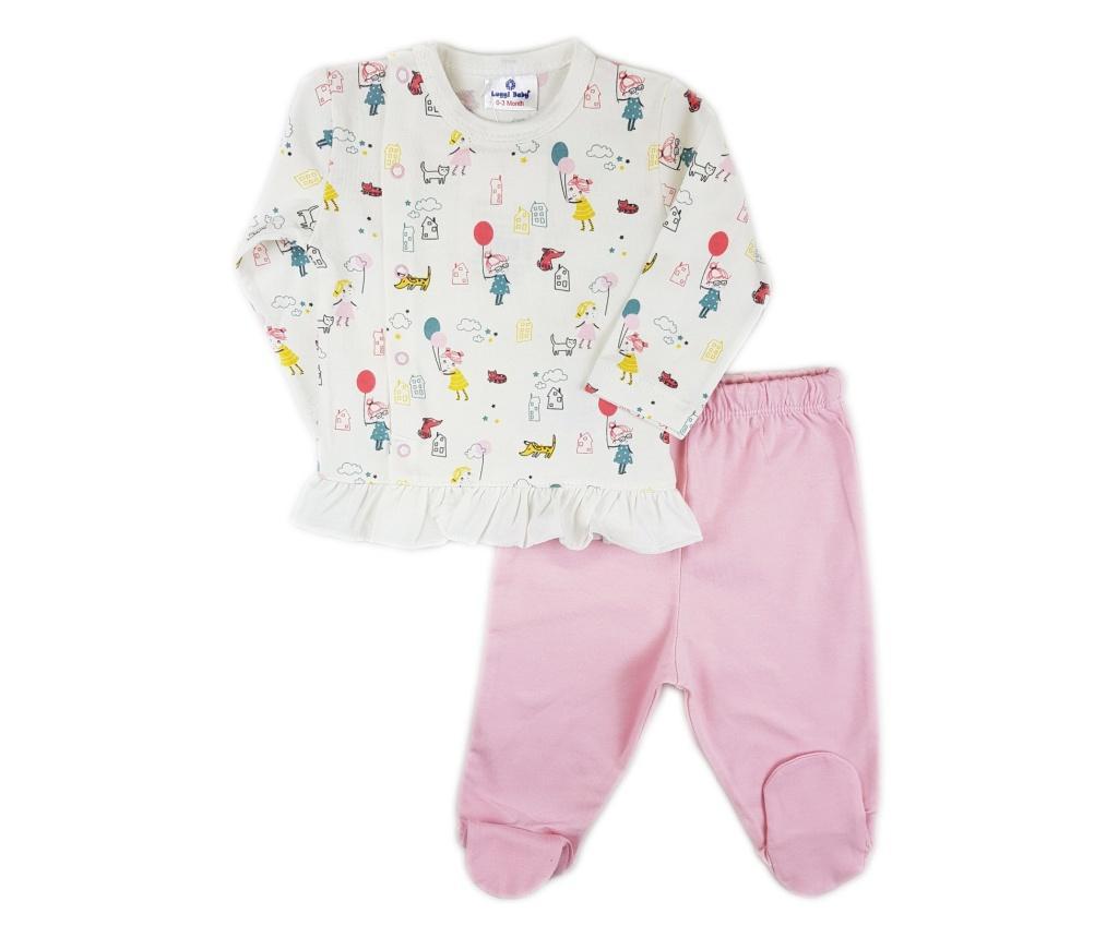 Set bluza si pantaloni lungi Luggi Baby nou nascut