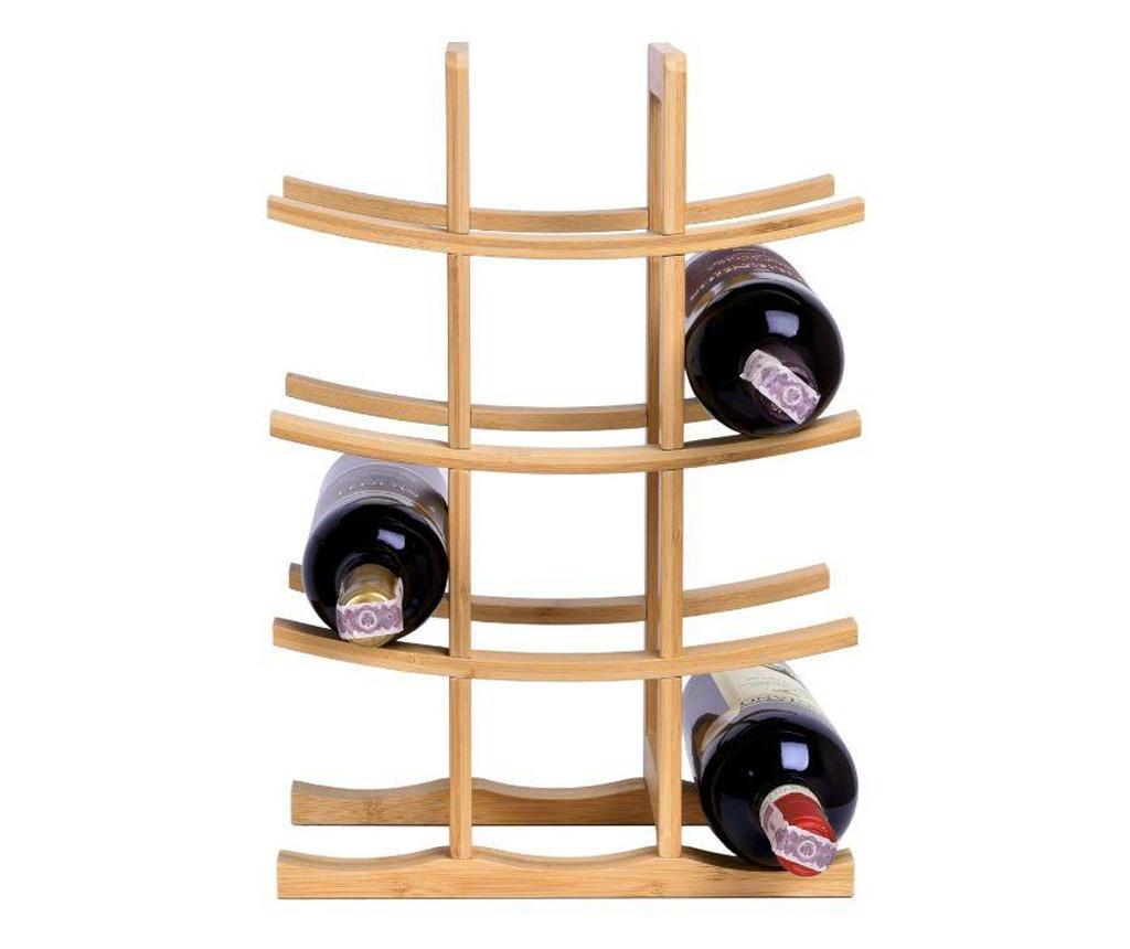 Suport Sticle De Vin Din Bambus
