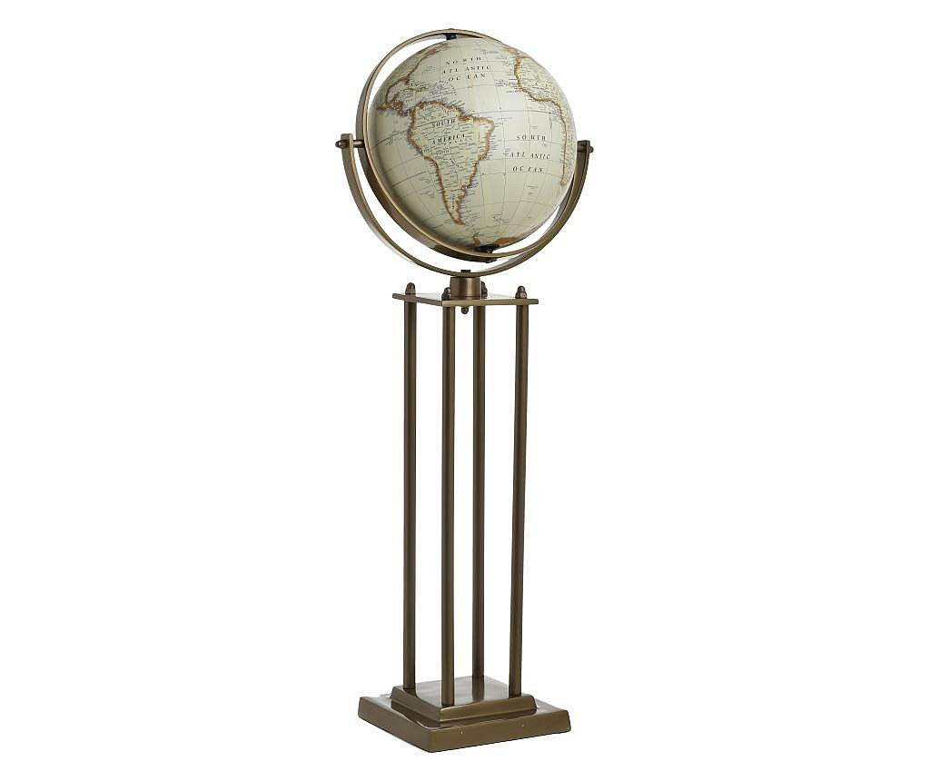 Decoratiune glob pamantesc, pe suport, 20x28x68 cm