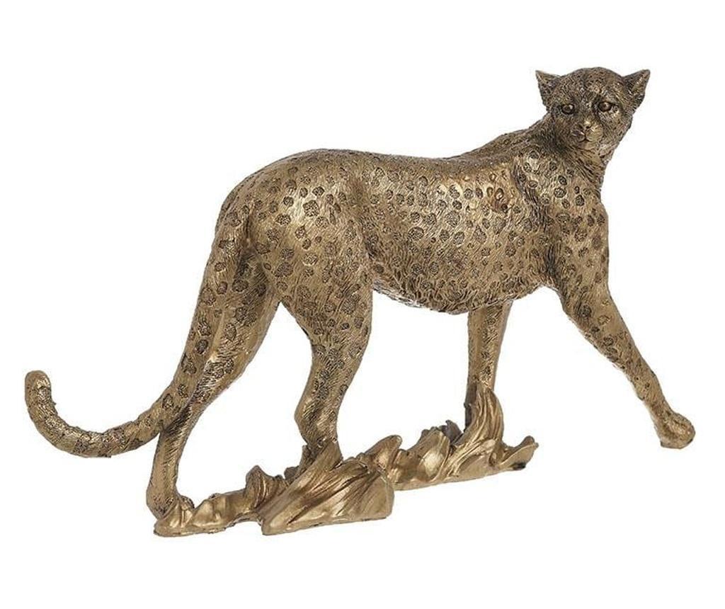 Figurina leopard, auriu, 25x8x15 cm