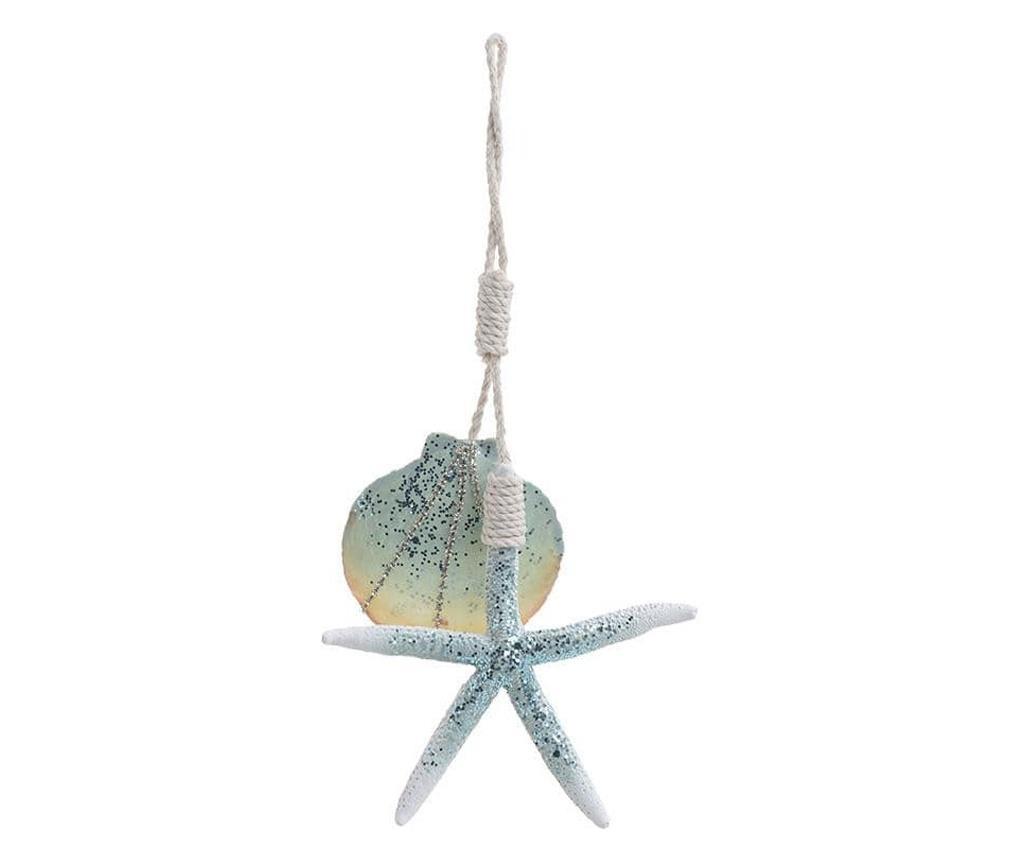 Decoratiune cu agatatoare, scoici/stea de mare, 13x1x25 cm