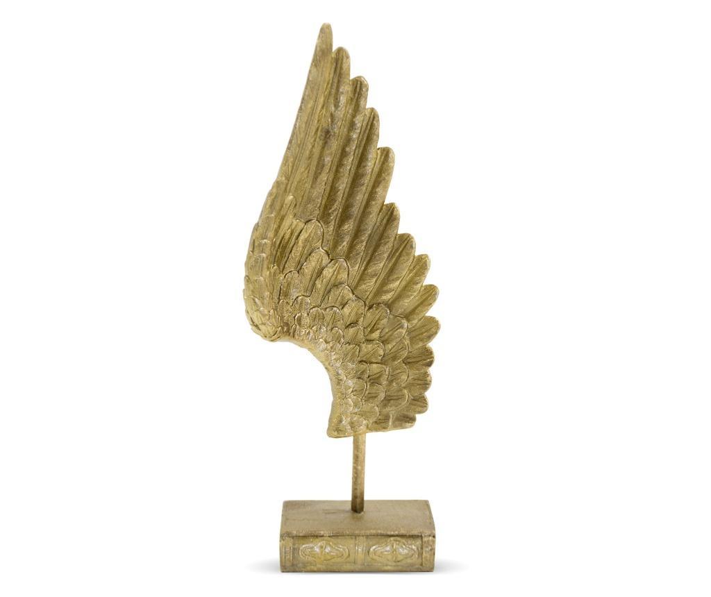 Decoratiune de masa aripa, auriu, 40x14x8,5 cm